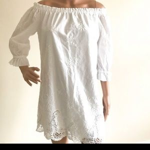 Off the Shoulder Lace Abercrombie & Fitch Dress